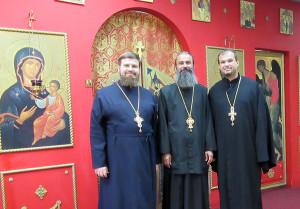 Храм блаженной Матроны посетил иерарх Румынской Православной Церкви
