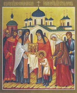 Исцеление преподобного Серафима Саровского от Курско-Коренной иконы Пресвятой Богородицы