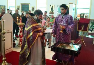 В день Торжества Православия в нашем храме освящена храмовая икона святой Матроны