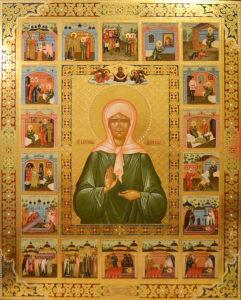 Икона святой Матроны Московской, подаренная Патриархом Кириллом