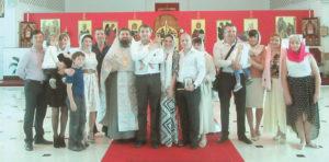 Крещение в храме святой Матроны