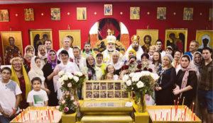 Престольный праздник храма святой Матроны возглавил архиепископ Монреальский и Канадский Гавриил