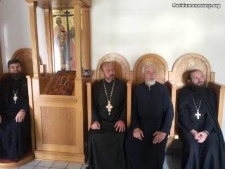 Протоиерей Виталий Косовский отслужил панихиду у гробницы схиархимандрита Иоанна (Льюиса) – основателя монастыря в Форт-Майерсе