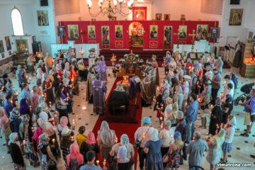 Гости Майамского собора: Митрополит Иона (Паффхаузен) возглавил Божественную литургию и Таинство Елеосвящения