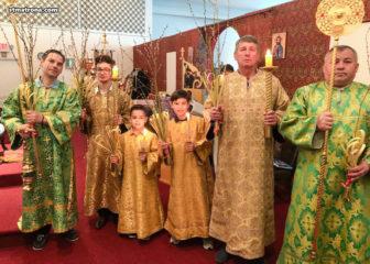 В Вербное воскресенье в Майамском соборе отслужено праздничное богослужение