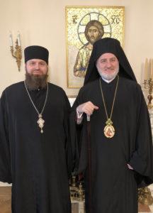Архиепископ Елпидофор и архимандрит Александр