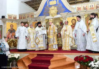 Настоятель Майамского собора сослужил главе Американской Архиепископии во время его первого посещения Славянского Викариатства