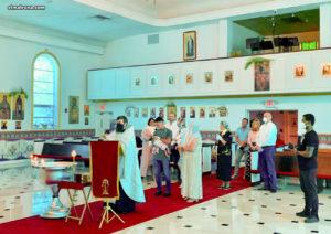 В Майамском соборе впервые после эпидемии коронавируса совершено Таинство крещения