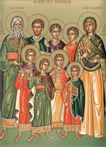 Богослужение в праздник Изнесения Креста Господня и память мучеников Маккавеев
