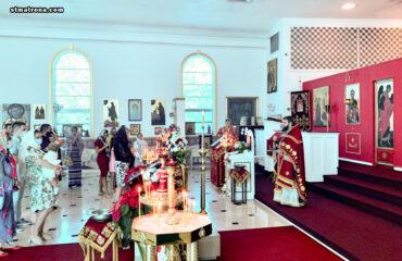 Праздник апостола Андрея в соборе св. Матроны Майами