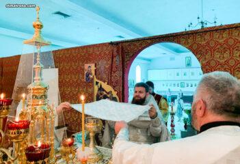 На праздник Архистратига Михаила центральный купол Майамского собора украсили иконы архангелов