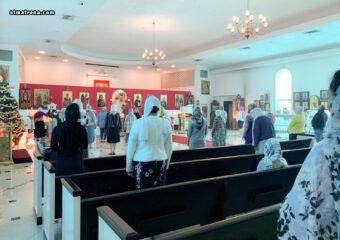 На Крещение Господне в Майамском соборе совершили Божественную литургию и великое освящение воды