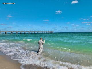 В Дания-Бич совершено традиционное освящение вод океана