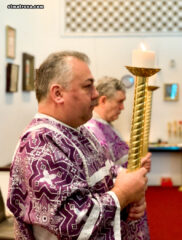 В Крестопоклонную неделю в соборе святой Матроны Московской в Майами совершено таинство Соборования