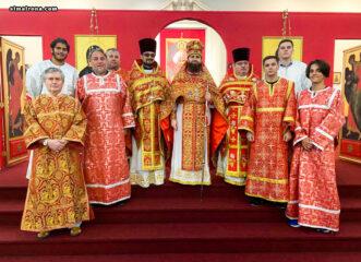 Пасхальное богослужение в русской церкви святой Матроны Московской в Майами