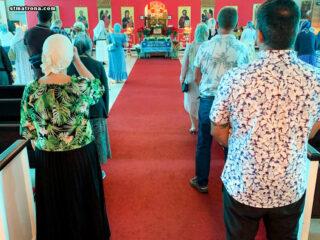 В соборе святой Матроны молитвенно отметили праздник Успения Пресвятой Богородицы